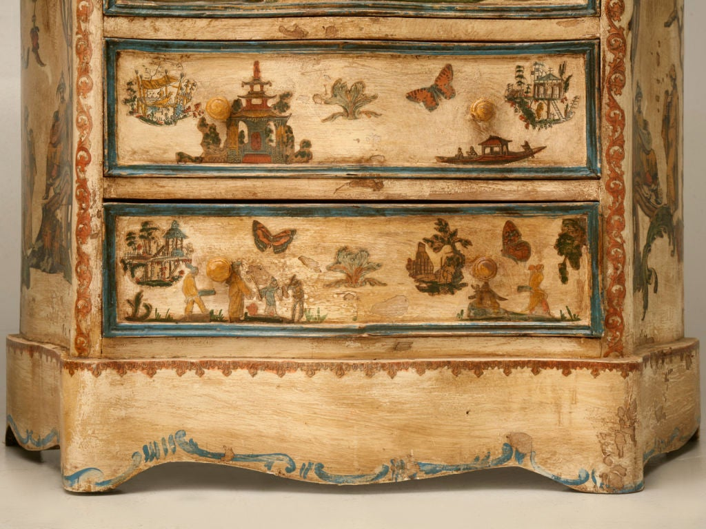 Pair of late 19th C. Antique Italian Semainiers Decorated in 20th C. Arte Povera image 10