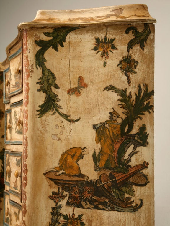 Pair of late 19th C. Antique Italian Semainiers Decorated in 20th C. Arte Povera image 6