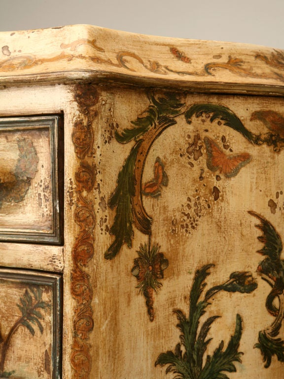 Pair of late 19th C. Antique Italian Semainiers Decorated in 20th C. Arte Povera image 7