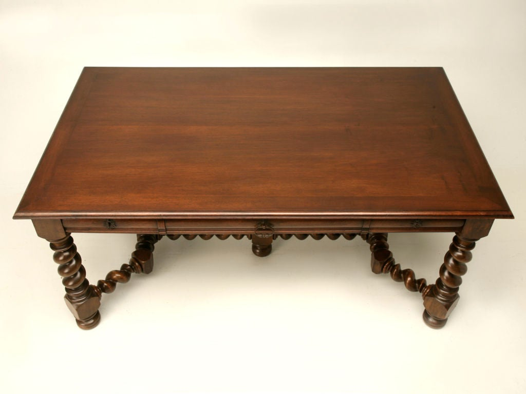 french walnut louis xiii library table desk at 1stdibs. Black Bedroom Furniture Sets. Home Design Ideas