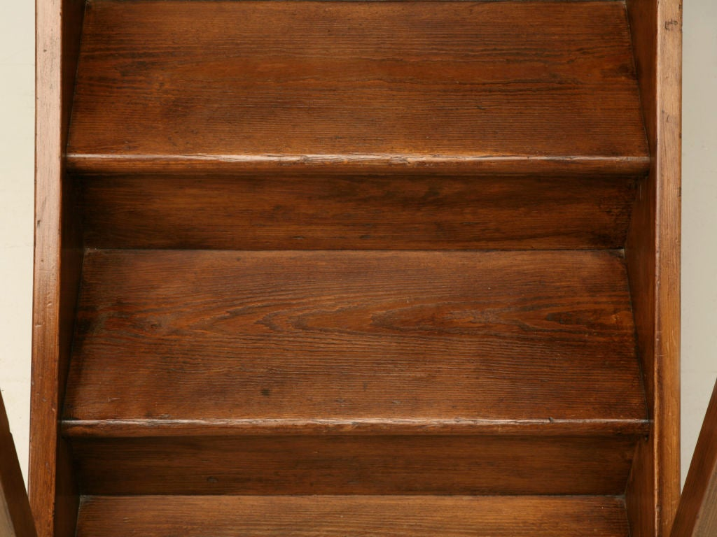Original Antique English Pine Library Steps 7