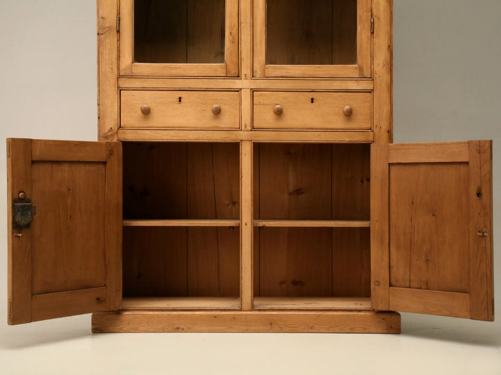 Original country english pine bookcase china for 1880 kitchen cabinets