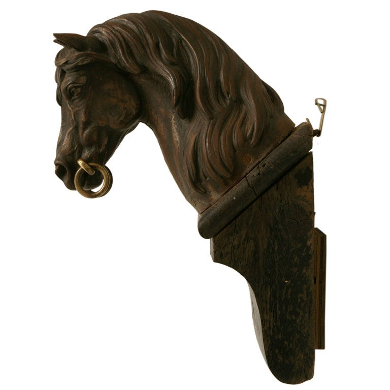 C french cast iron horse hitching post at stdibs