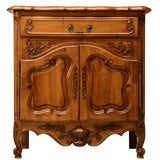 Petite French Figured Walnut Server/Sink Base/Nightstand