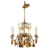 Bronze 8-Light Fruit Chandelier, circa 1930
