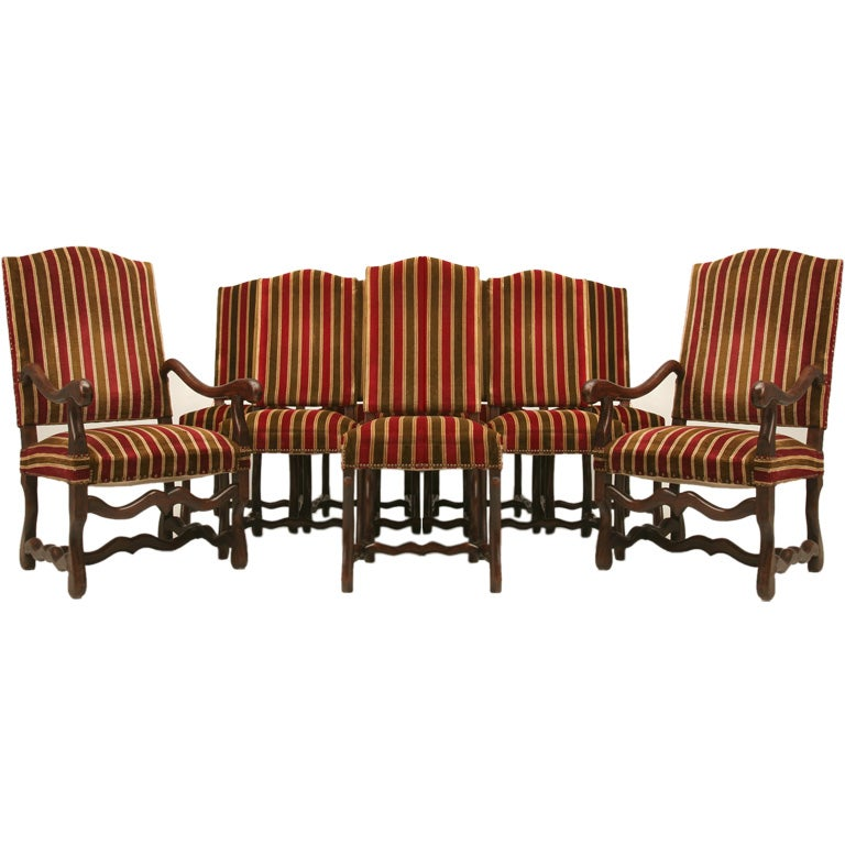 Set Of Ten French Louis XIII Style Dining Chairs At 1stdibs