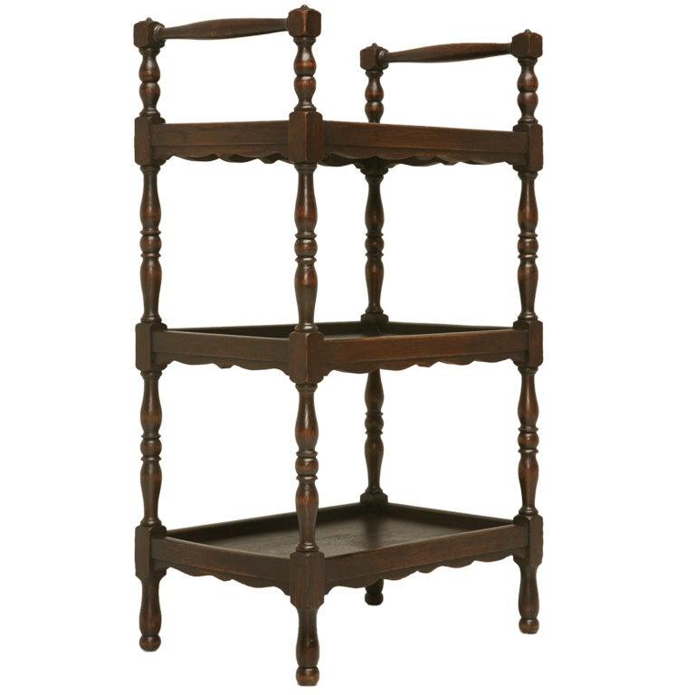 petite french oak etagere at 1stdibs. Black Bedroom Furniture Sets. Home Design Ideas