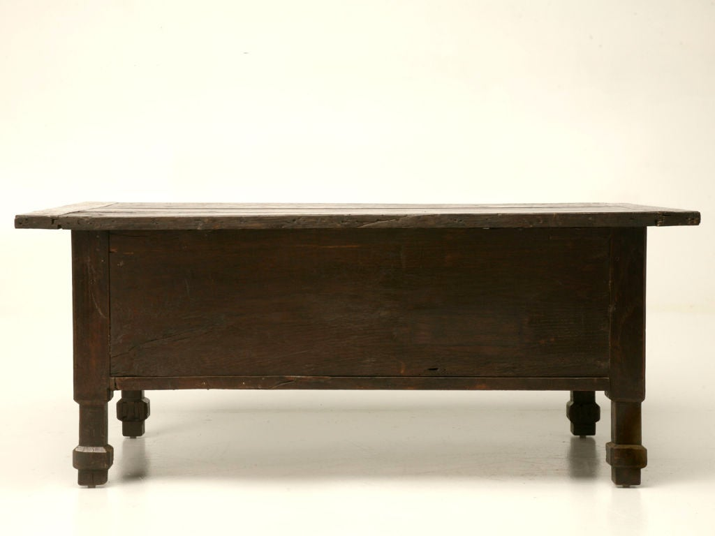Hand carved oak and chestnut coffee table at 1stdibs Carved coffee table