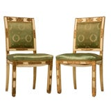 c.1860 Pair of French Directoire Side Chairs
