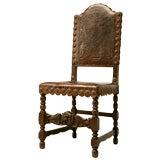 c.1890 Spanish Oak & Tooled Leather Desk Chair