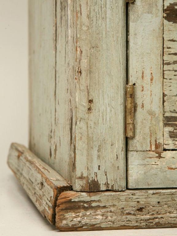 Miniature American Pine Original Paint Child's Cupboard For Sale 5