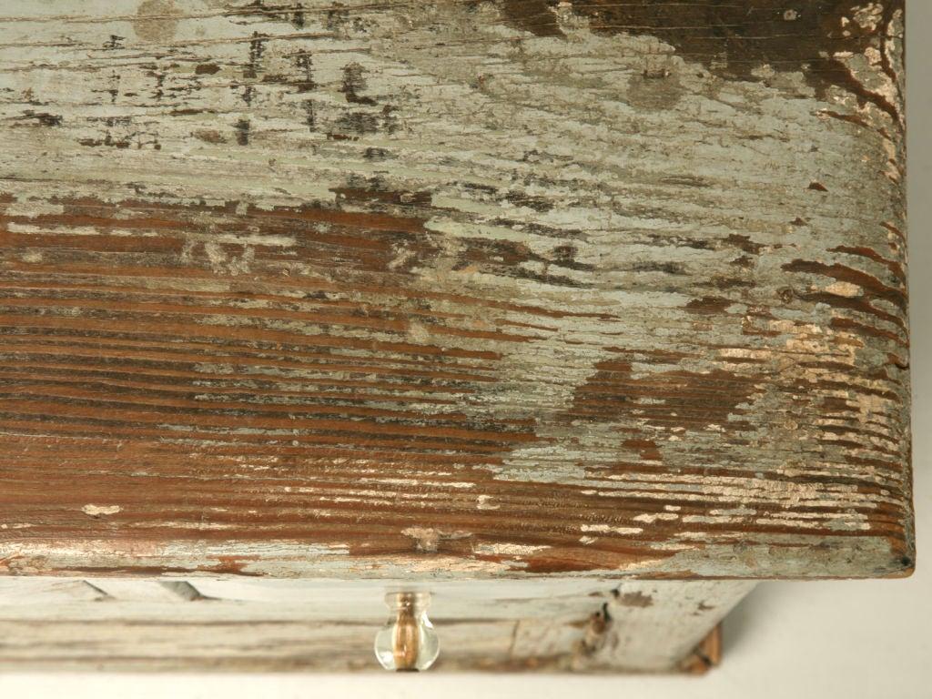 Miniature American Pine Original Paint Child's Cupboard For Sale 1