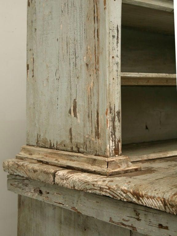 Miniature American Pine Original Paint Child's Cupboard For Sale 2