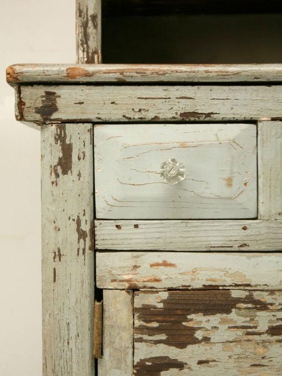 Miniature American Pine Original Paint Child's Cupboard For Sale 3