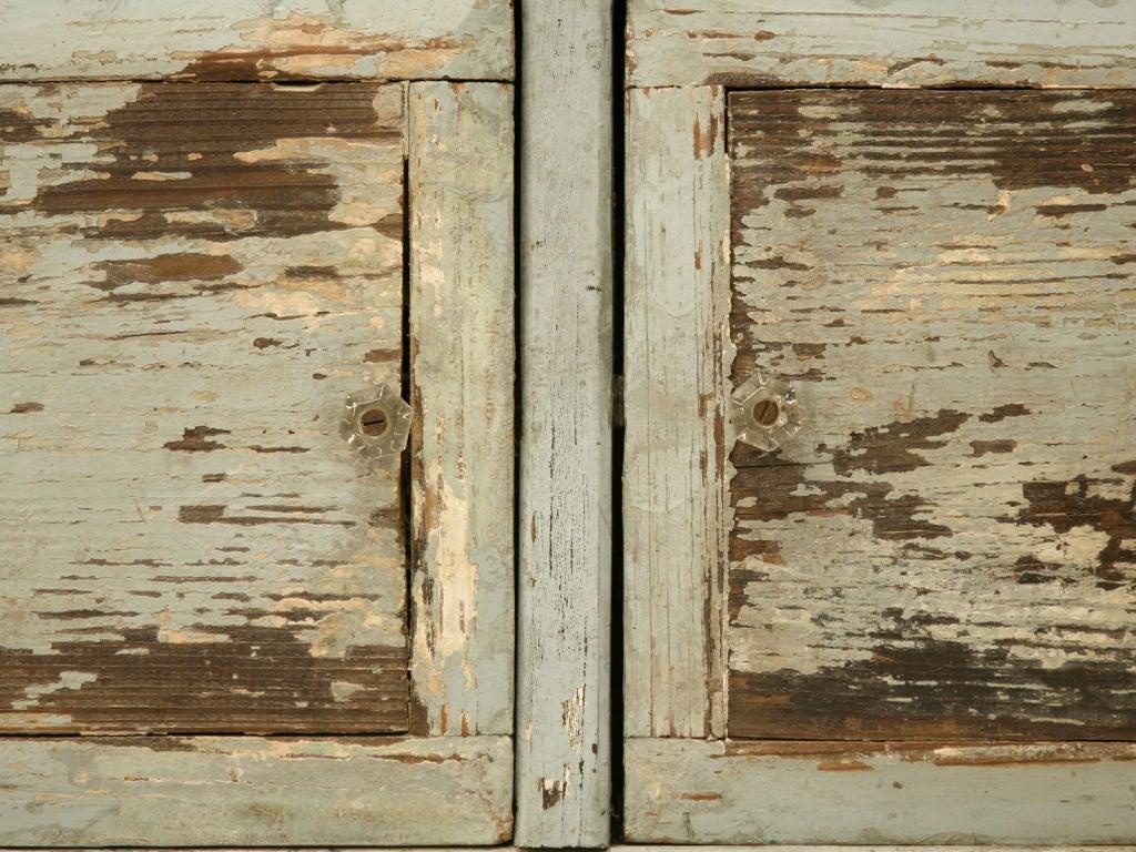 Miniature American Pine Original Paint Child's Cupboard For Sale 4