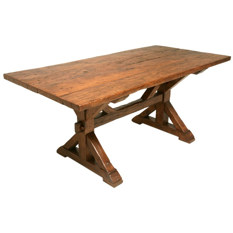 Breathtaking Solid Cherry Wood French Farm Table At 1stdibs
