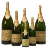 Set of 6 Nicolas Feuillatte Champagne Bottle Store Props