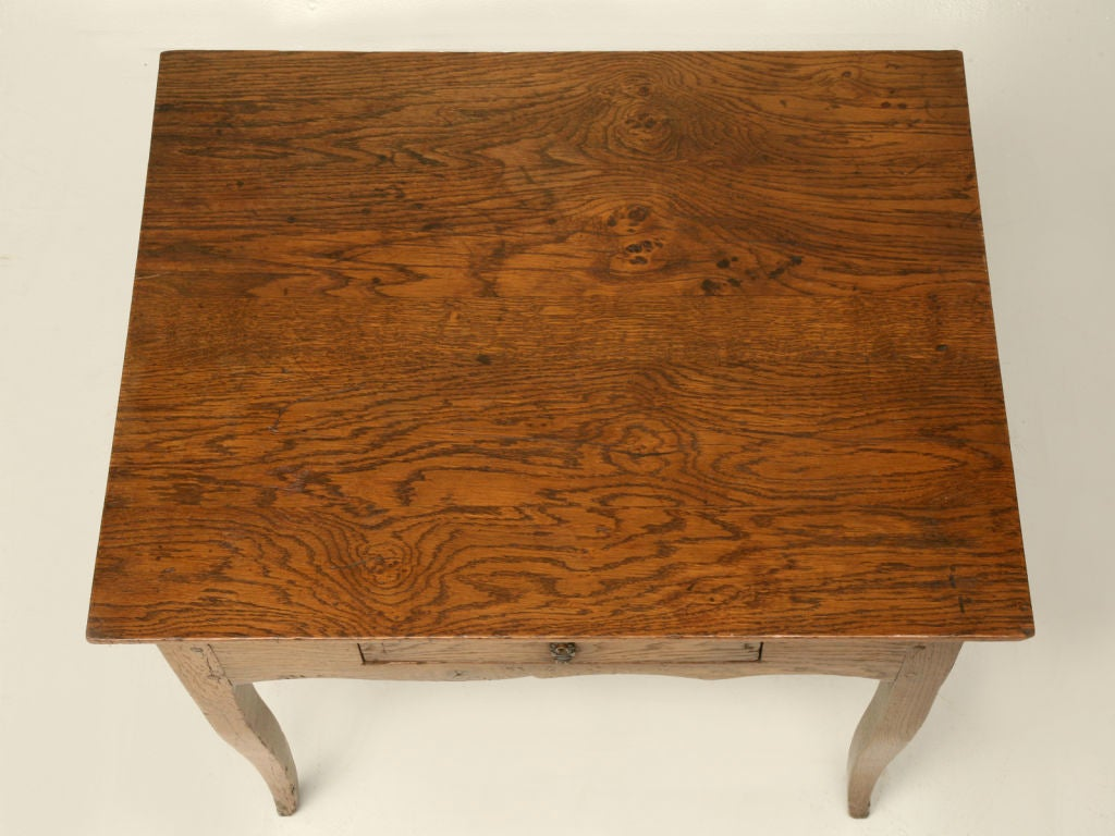 Hand-Crafted Antique French Louis XV Style End Table or Side Table or Ladies Writing Desk For Sale