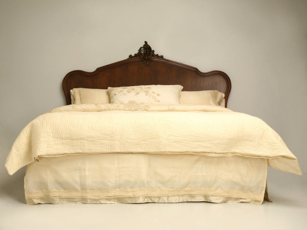 C 1890 French Walnut Louis Xv King Size Bed At 1stdibs