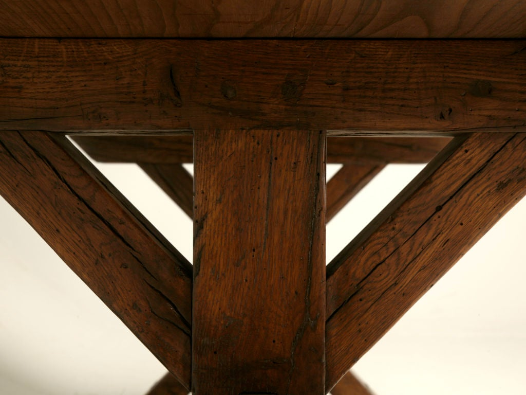 Handmade French White Oak Farm Table For Sale At 1stdibs