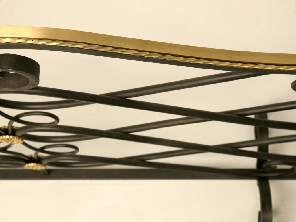 G. Poillerat Style Handmade Fire Screen Available in Any Size In Excellent Condition For Sale In Chicago, IL