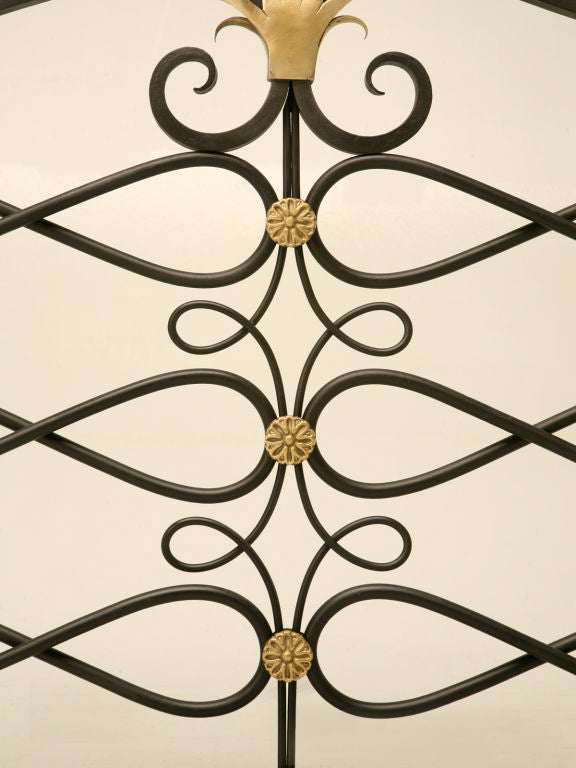 Contemporary G. Poillerat Style Handmade Fire Screen Available in Any Size For Sale