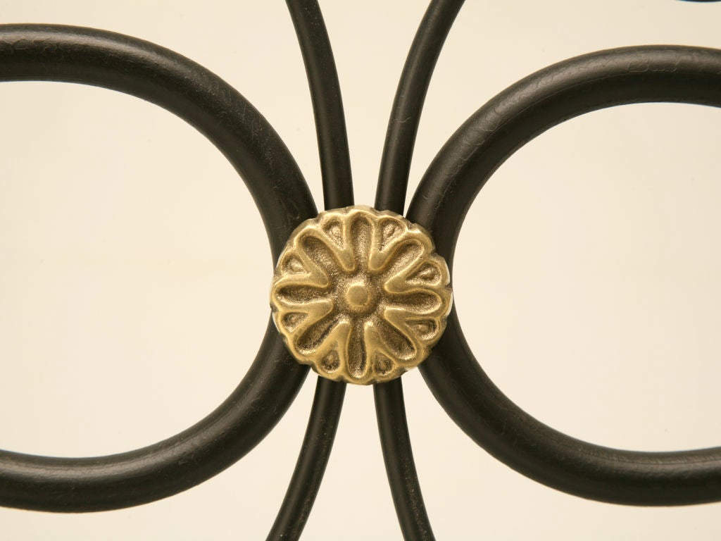 Metal G. Poillerat Style Handmade Fire Screen Available in Any Size For Sale