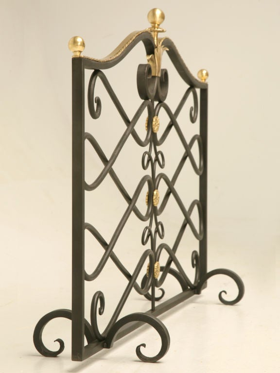G. Poillerat Style Handmade Fire Screen Available in Any Size For Sale 1