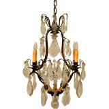 c.1920 Exquisite French Crystal 9 Light Chandelier