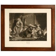 c.1830 Exquisite Antique English Etching Artist Proof