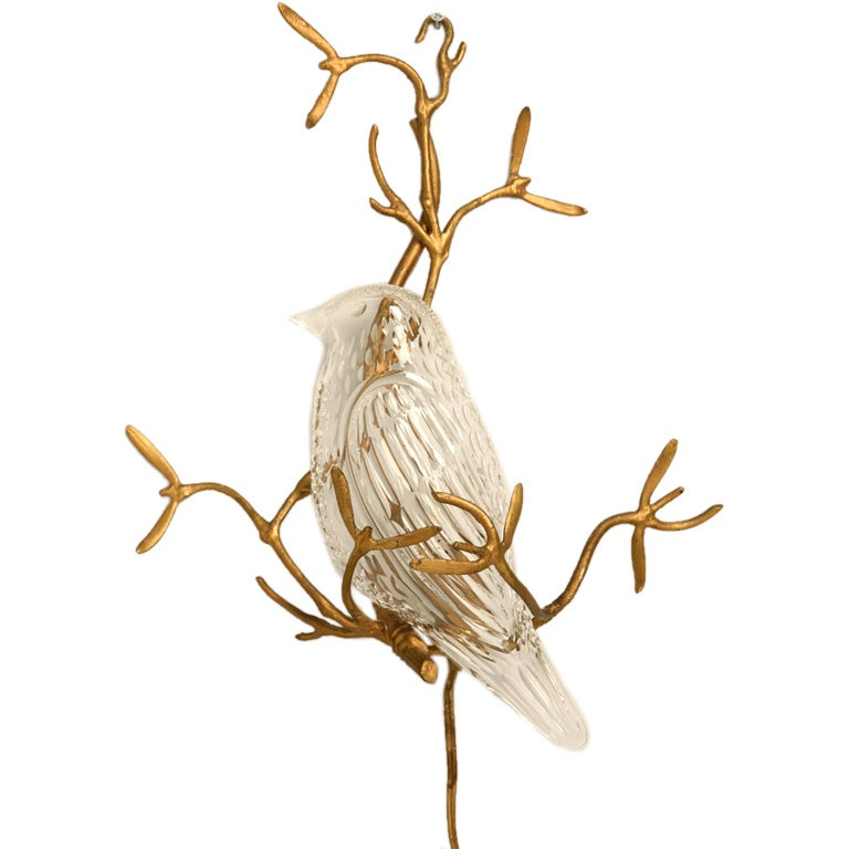Wall Sconces With Birds : circa 1940-1950 Irish Crystal Bird Sconce at 1stdibs