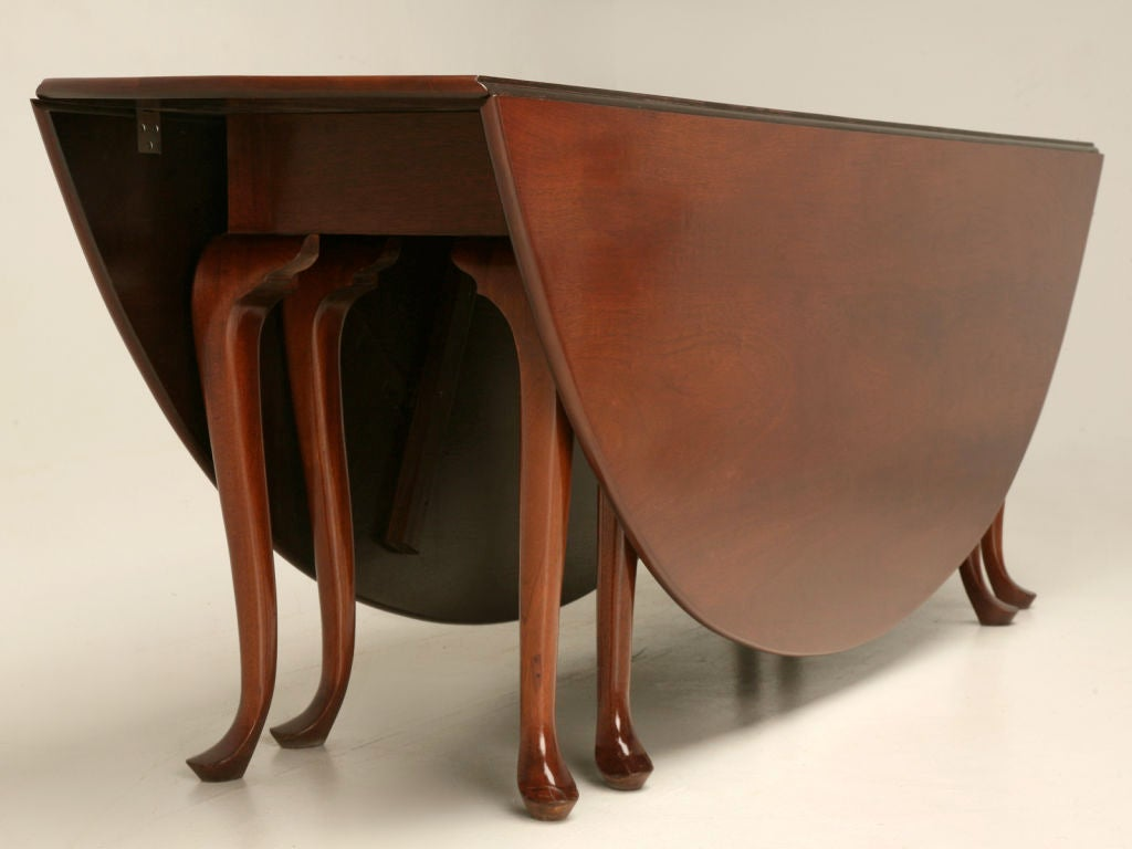 Large english mahogany double gateleg dining table at 1stdibs for Gateleg dining table