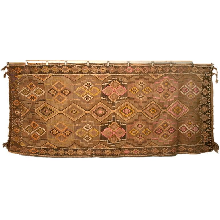 Vintage Turkish Kilim Rug At 1stdibs