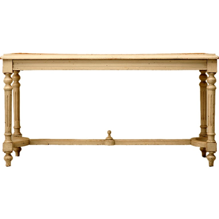 Circa 1920 French Louis XVI Painted & Caned Bench
