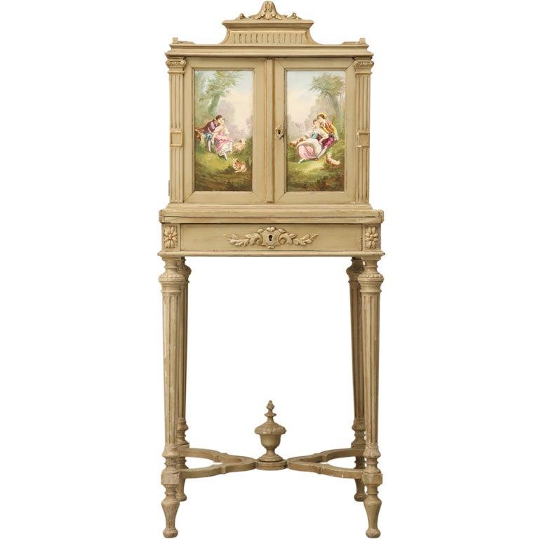 Petite Painted Antique French Louis XVI Ladies Secretary 1