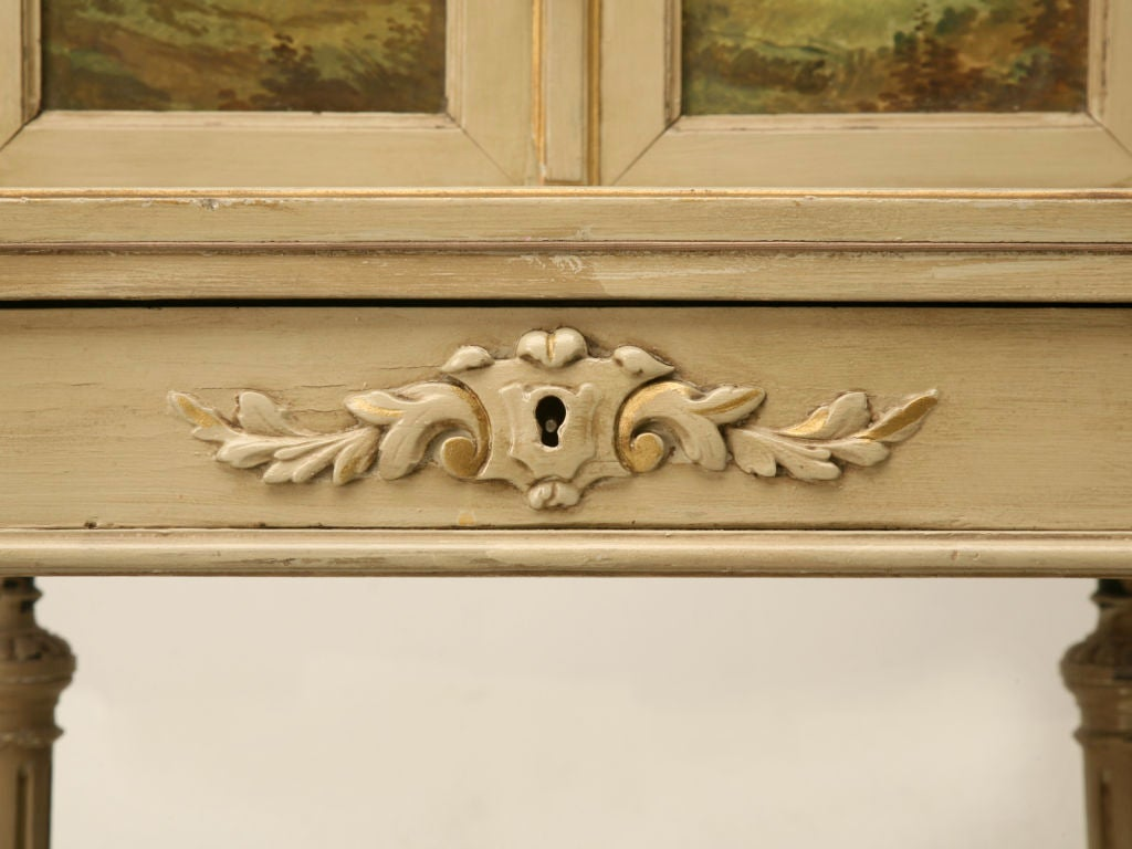 Petite Painted Antique French Louis XVI Ladies Secretary 7