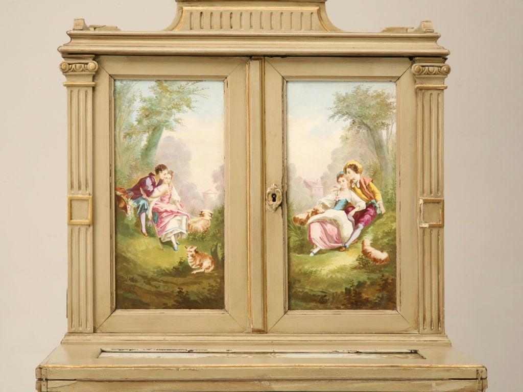 Petite Painted Antique French Louis XVI Ladies Secretary 3