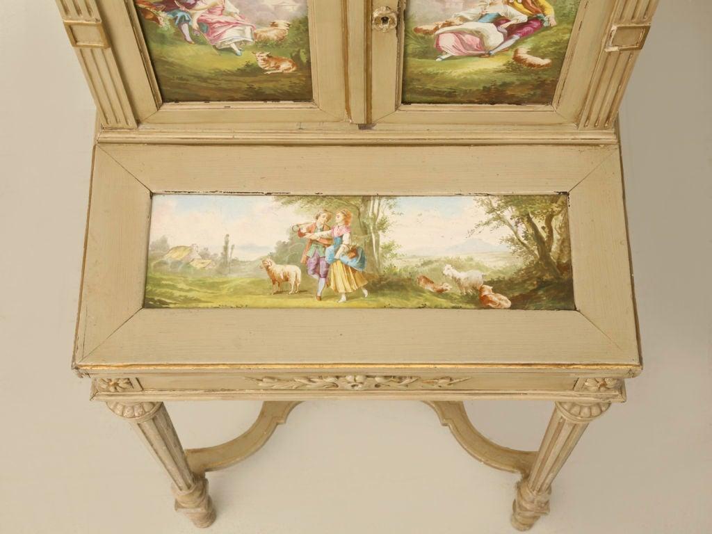 Petite Painted Antique French Louis XVI Ladies Secretary 5