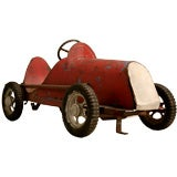 Vintage French Boat-Tailed Pedal Car