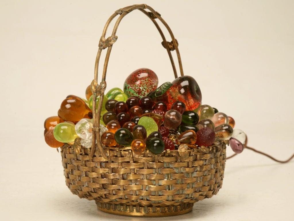 Vintage Czechoslovakian Quot Fruit Basket Quot Lamp At 1stdibs