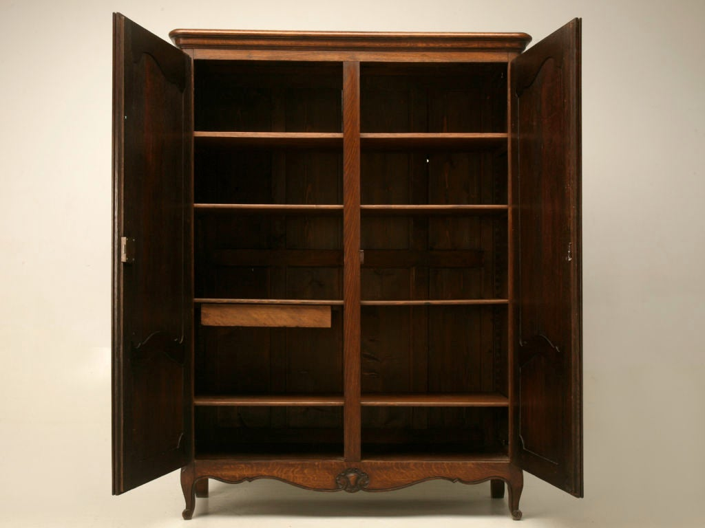 petite french 3 4 scale louis xv oak armoire at 1stdibs. Black Bedroom Furniture Sets. Home Design Ideas