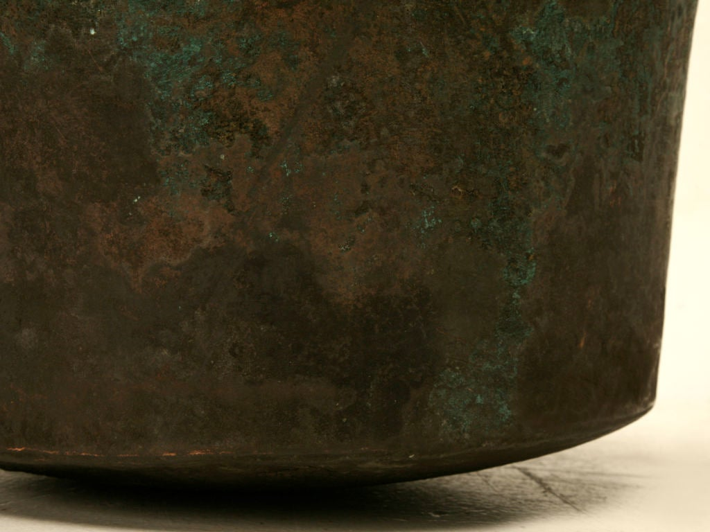 c.1840 Large Handmade French Copper Cauldron For Sale 7