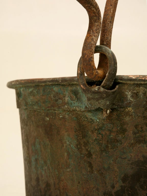 c.1840 Large Handmade French Copper Cauldron For Sale 3