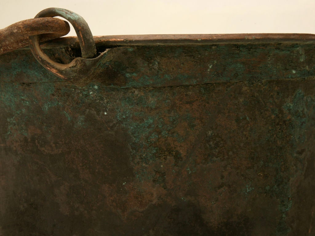 c.1840 Large Handmade French Copper Cauldron For Sale 6