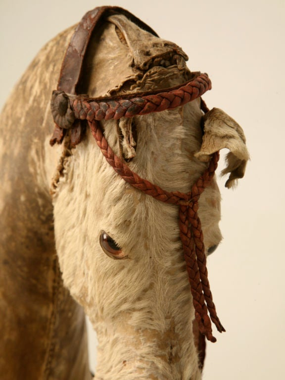 c.1900 Antique English Horse Pull Toy 4