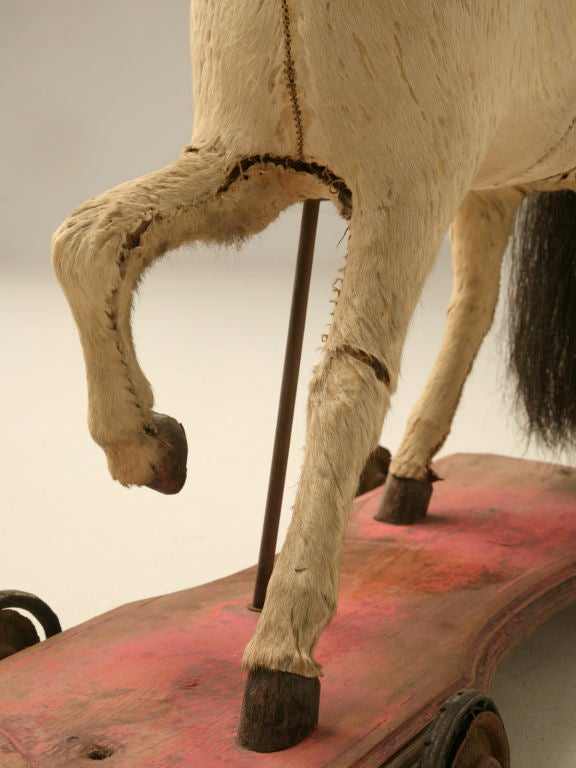 c.1900 Antique English Horse Pull Toy 5