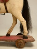 c.1900 Antique English Horse Pull Toy image 7