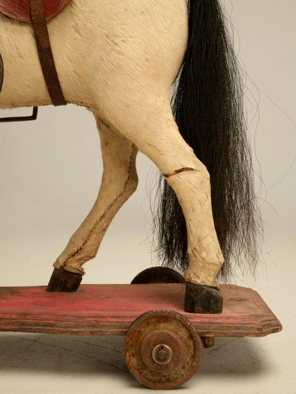 c.1900 Antique English Horse Pull Toy 7