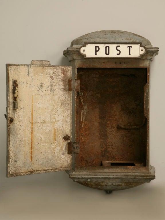 C 1930 French Iron Telephone Post Box At 1stdibs