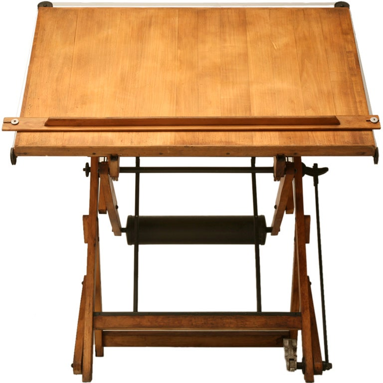C 1930 Vintage French Architect S Drafting Table At 1stdibs